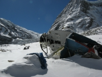 Vrak vrtuľníka pod BC