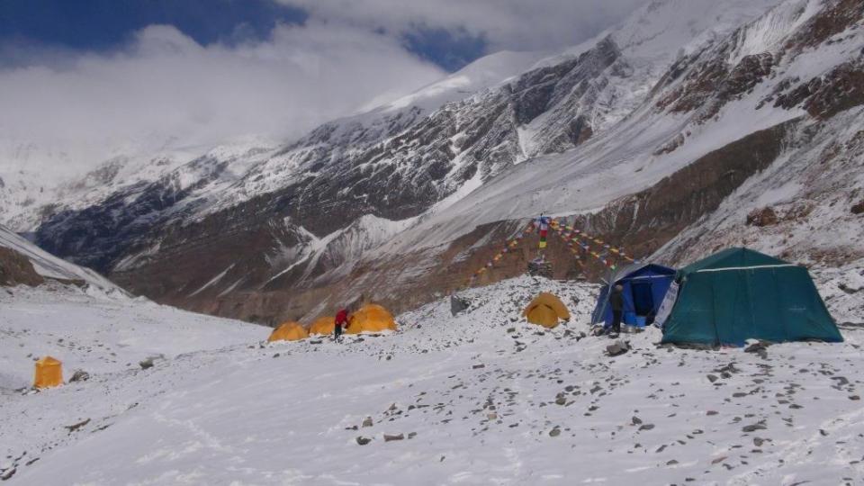 1. Náš základný tábor pod Dhaulágiri