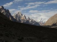 Veže Trango a začiatok ľadovca Baltoro
