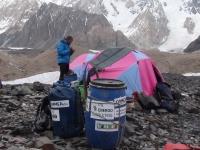 Tábor Gore II na ľadovci Baltoro