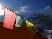 Nuptse a Západné rameno Everestu zo základného tábora.