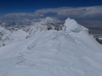 Pohľad z vrcholu Shishapangmy.