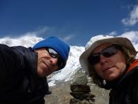 S Marikou na moréne ľadovca South Annapurna Glacier.